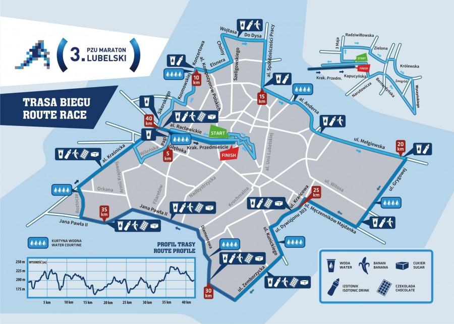 maraton lubelski trasa