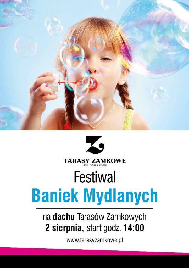 Plakat Festiwal Baniek Mydlanych w Lublinie